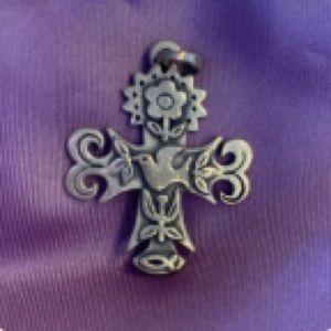 James Avery La Primavera Cross for necklace small